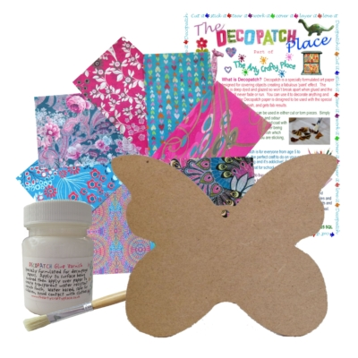 MDF Large Butterfly Decopatch Kit