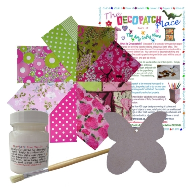 Small MDF Butterfly Decopatch Kit