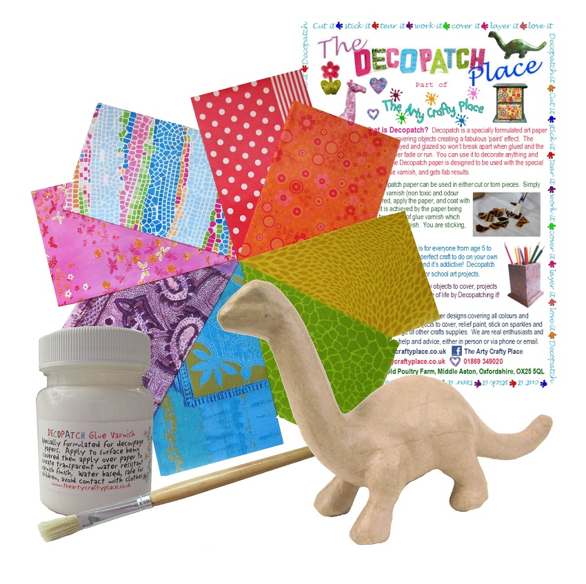 Small Apatosaurus Decopatch Kit