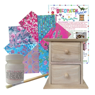Small Chest of Drawers Decopatch Kit