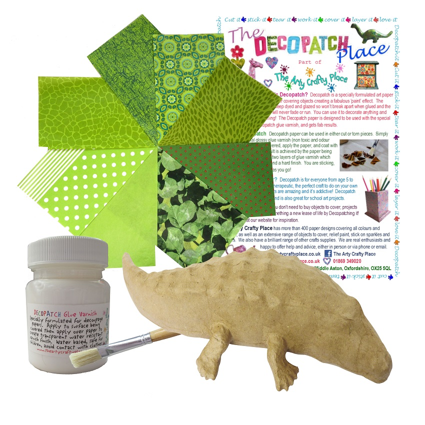 Small Crocodile Decopatch Kit