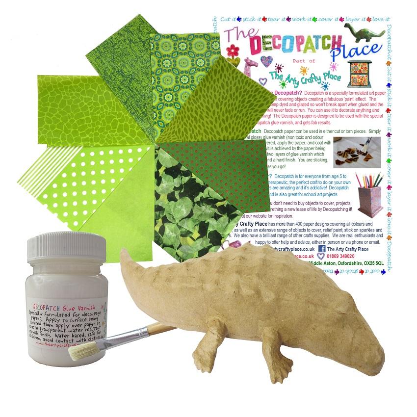 Small Crocodile Decopatch Kit
