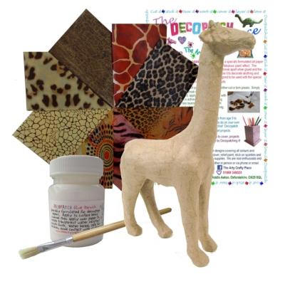 Small Giraffe Decopatch Kit