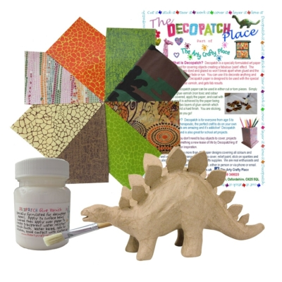 Small Stegosaurus Decopatch Kit