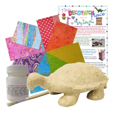 Small Tortoise Decopatch Kit