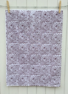 Seed Head Repeat Tea Towel