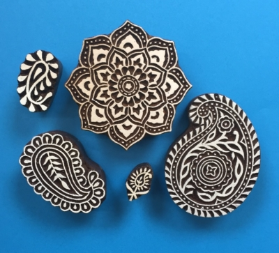 Paisley Indian Block Printing Set