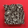 Indian Wooden Printing Block- Meadow Design