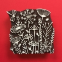 Indian Wooden Printing Block- Meadow Design