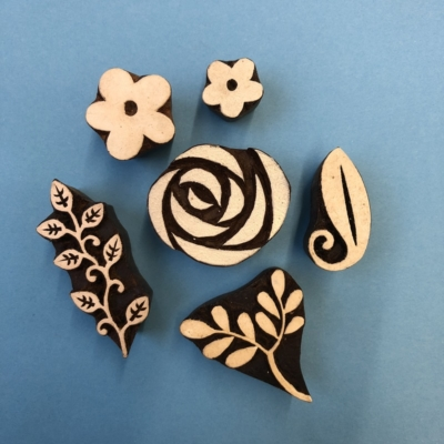 Rose and Leaves Printing Set