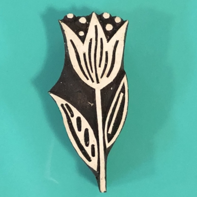 Indian Printing Block- Tulip