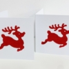 Red Leaping Reindeer Christmas Cards