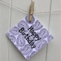 Indian Block Printed Happy Birthday Card