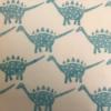 Indian Wooden Printing Block- Dinosaur Stegosaurus Print