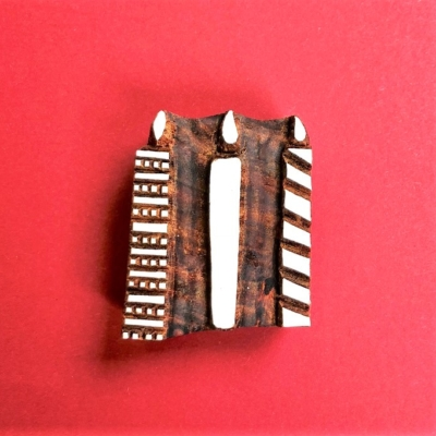 Indian Wooden Printing Block- Candles