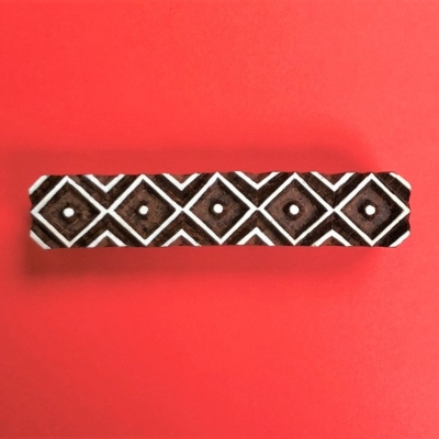 vIndian Wooden Printing Block- Geometric Border
