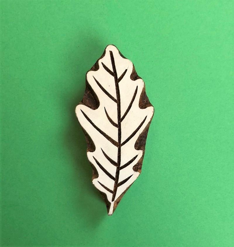 Indian Wooden Printing Block-Large Oak Leaf