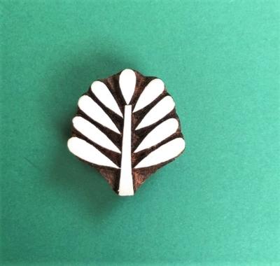 Indian Wooden Printing Block- Large Pattern Leaf