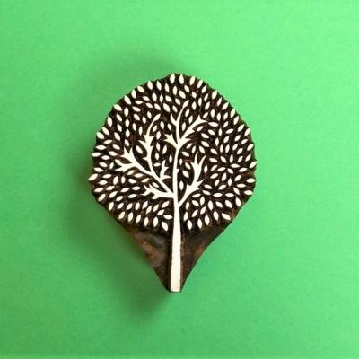 Indian Wooden Printing Block- Medium Indian Tree