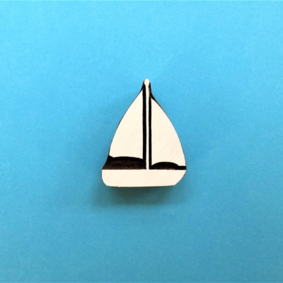 Indian Wooden Printing Block - Sailing Boat