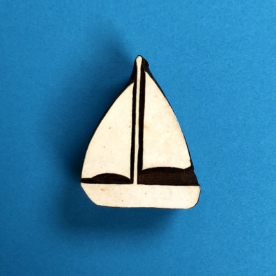 Indian Wooden Printing Block- Sailing Boat