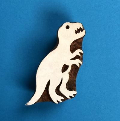 Indian Wooden Printing Block- T-Rex