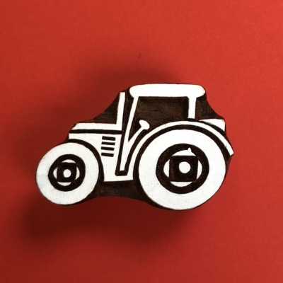 Indian Wooden Printing Block- Tractor