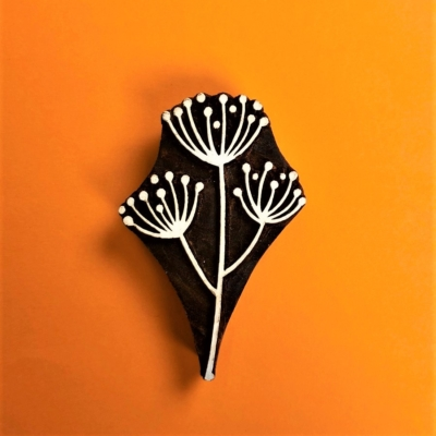Indian Wooden Printing Block- Triple Allium