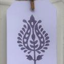 Hand Block Printed Paisley Gift Tag