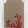 Block Printed Stag Head Gift Tag