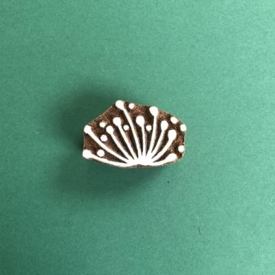 Indian Wooden Printing Block-Allium Head