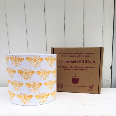 Block Print your own Lampshade Kit- Bumble Bee Design