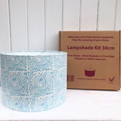 Indian Block Print Your Own 30cm Lampshade Kit- 30cm Seed Head Repeat Design