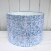 30cm Block Print a Lampshade Kit- Blue Meadow Design