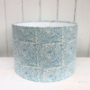 30cm Block Printed Drum Lampshade- Seed Head Repeat Design