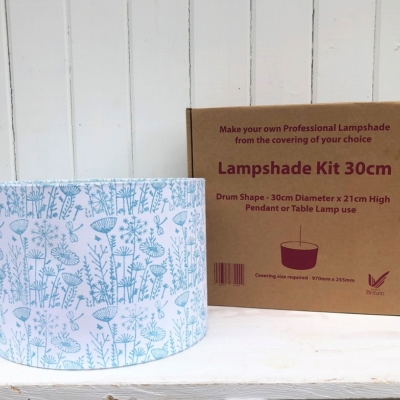 Block Print your own Lampshade Kit- 30cm Meadow Design