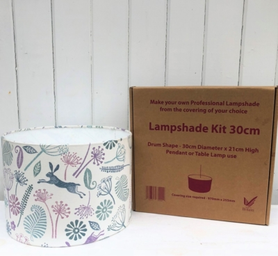 Block Print Your Own Lampshade Kit- 30cm Mixed Seed Head Design