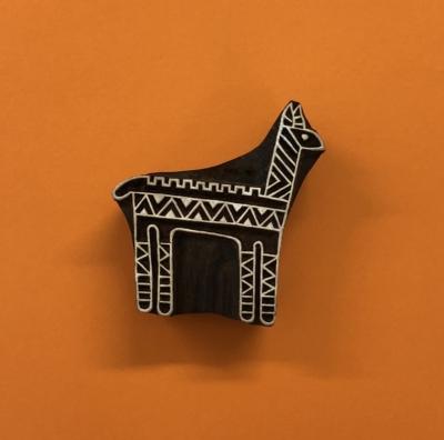 Indian Wooden Printing Block- Alpaca