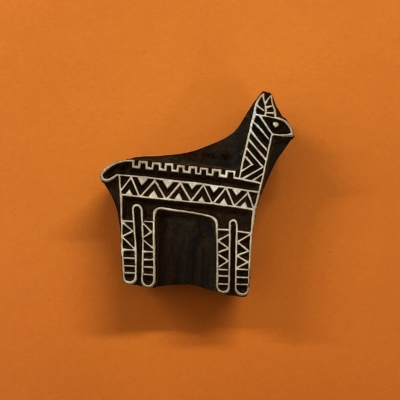 Indian Wooden Printing Block- Alpaca