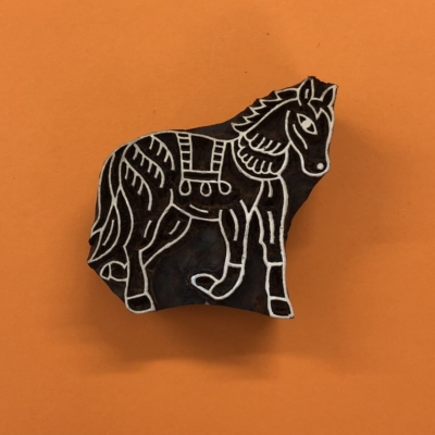 Indian Wooden Printing Block- Large Stylised Horse