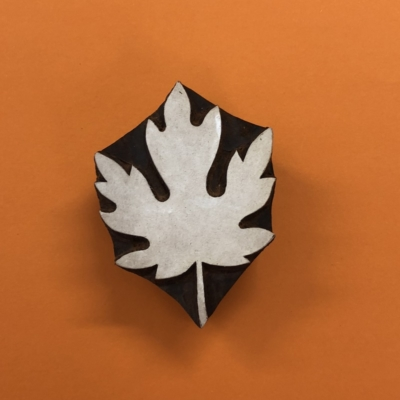 Indian Wooden Printing Block- Maple Leaf