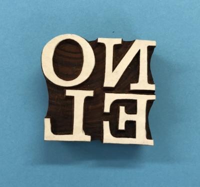 Indian Wooden Printing Block- Noel