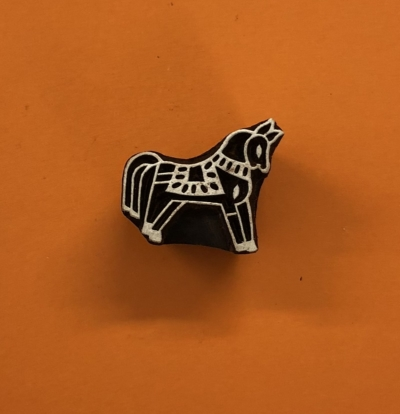 Indian Wooden Printing Block- Small Stylised Horse