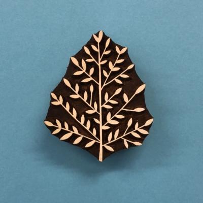 Indian Wooden Printing Block - Multi Leaf