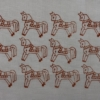 Indian Wooden Printing Block- Small Stylised Horse Fabric Sample