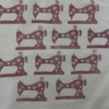 Indian Wooden Printing Block- Sewing Machine Fabric Sample