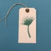 Indian Wooden Printing Block- Stylised Seedhead Gift tag