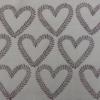 Indian Wooden Printing Block - Vine Heart Fabric Sample