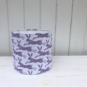 20cm Block Printed Lampshade- Leaping Hare Design