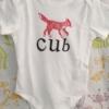 Fox Cub Baby Grow Sample